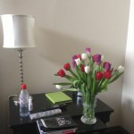 Trinity Hotel, and someone arranged for tulips :)