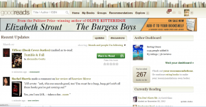 goodreads home page