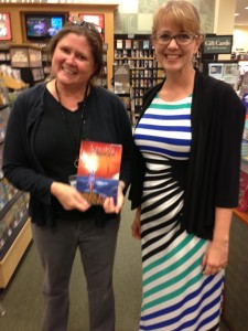 A store employee/fan. She compared my writing to the zaniness of Carl Hiassen. I'll take it!