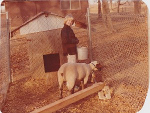 Oh so many years ago, a girl and her lamb.